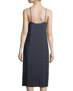 Vince Refined Dot Silk Camisole Dress