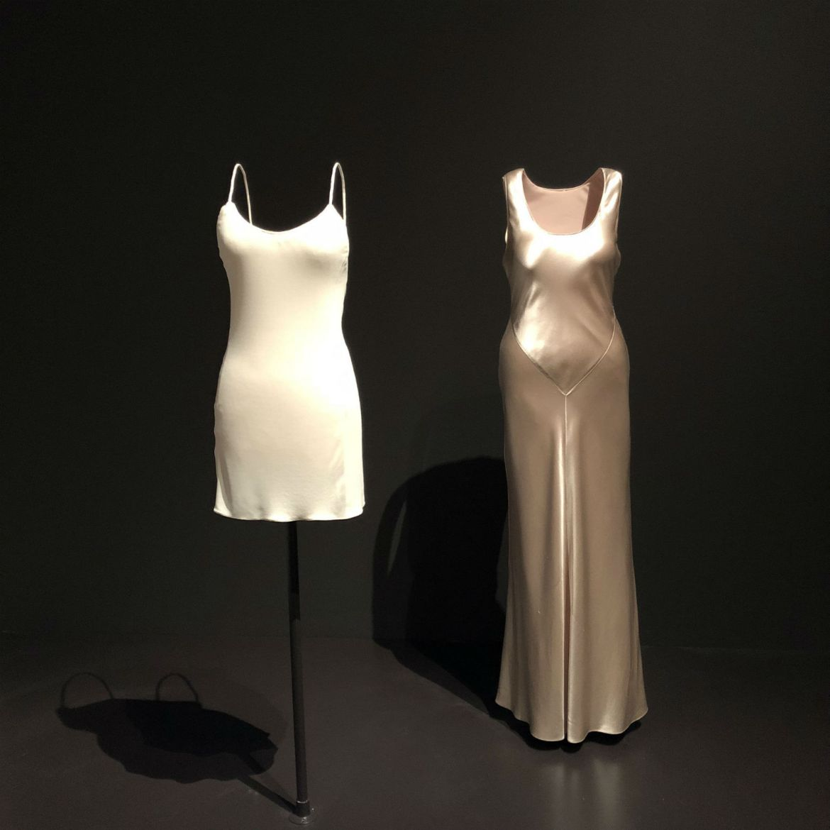 Calvin Klein minimal dresses at MoMA's Items: Is Fashion Modern?