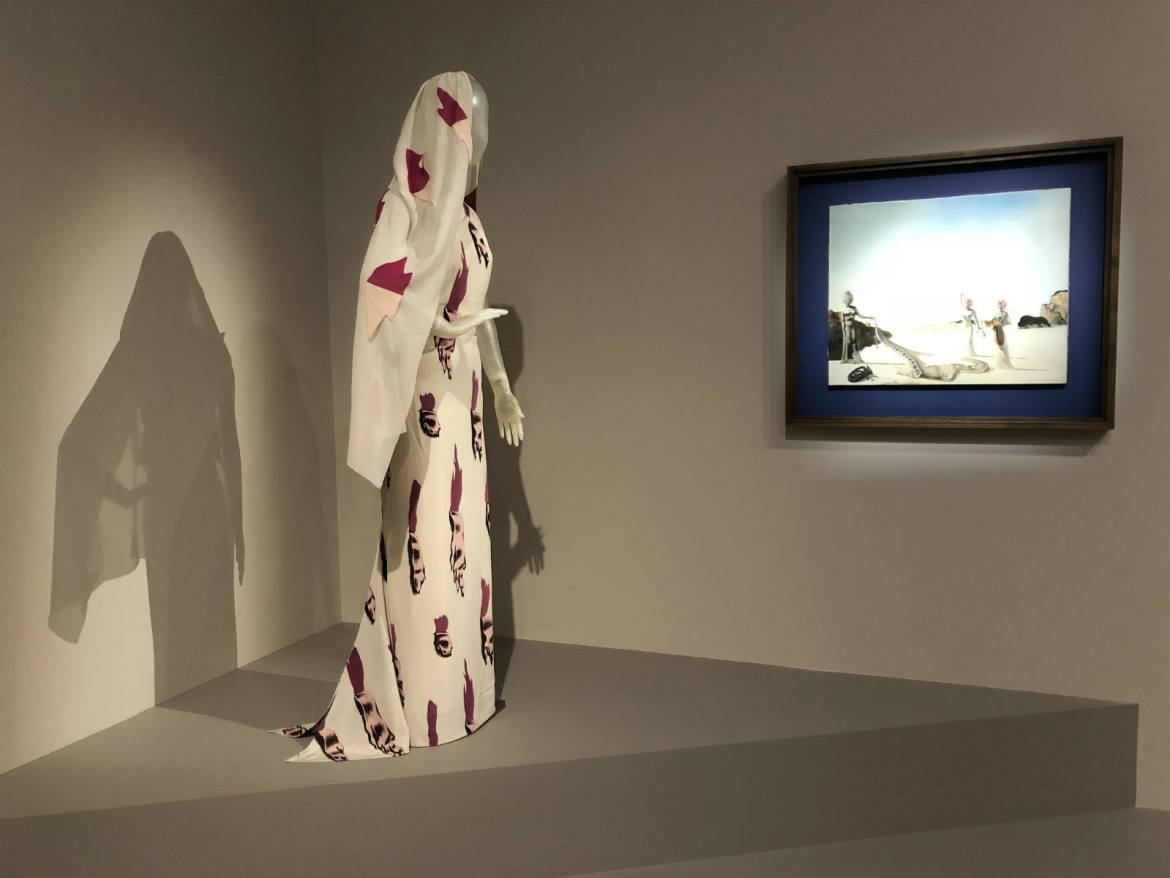 Schiaparelli's Tear Dress at Dalí & Schiaparelli exhibit in St. Petersburg, now open