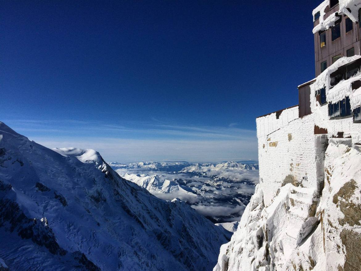 A shot from my own visit, only part-way up to the summit of Mont Blanc / Monte Bianco