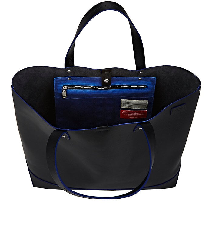 Jack Spade Double-Handle Tote Bag in Black/Blue, made in NYC