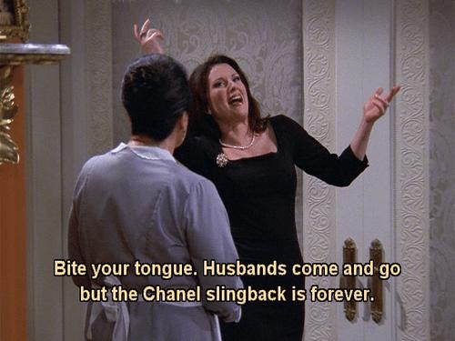 Karen Walker: The Chanel Slingback is forever.