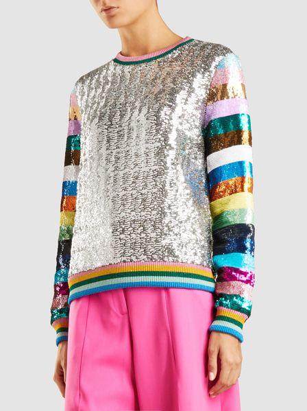 Mary Katrantzou Magpie Sequined Sweatshirt at Modist