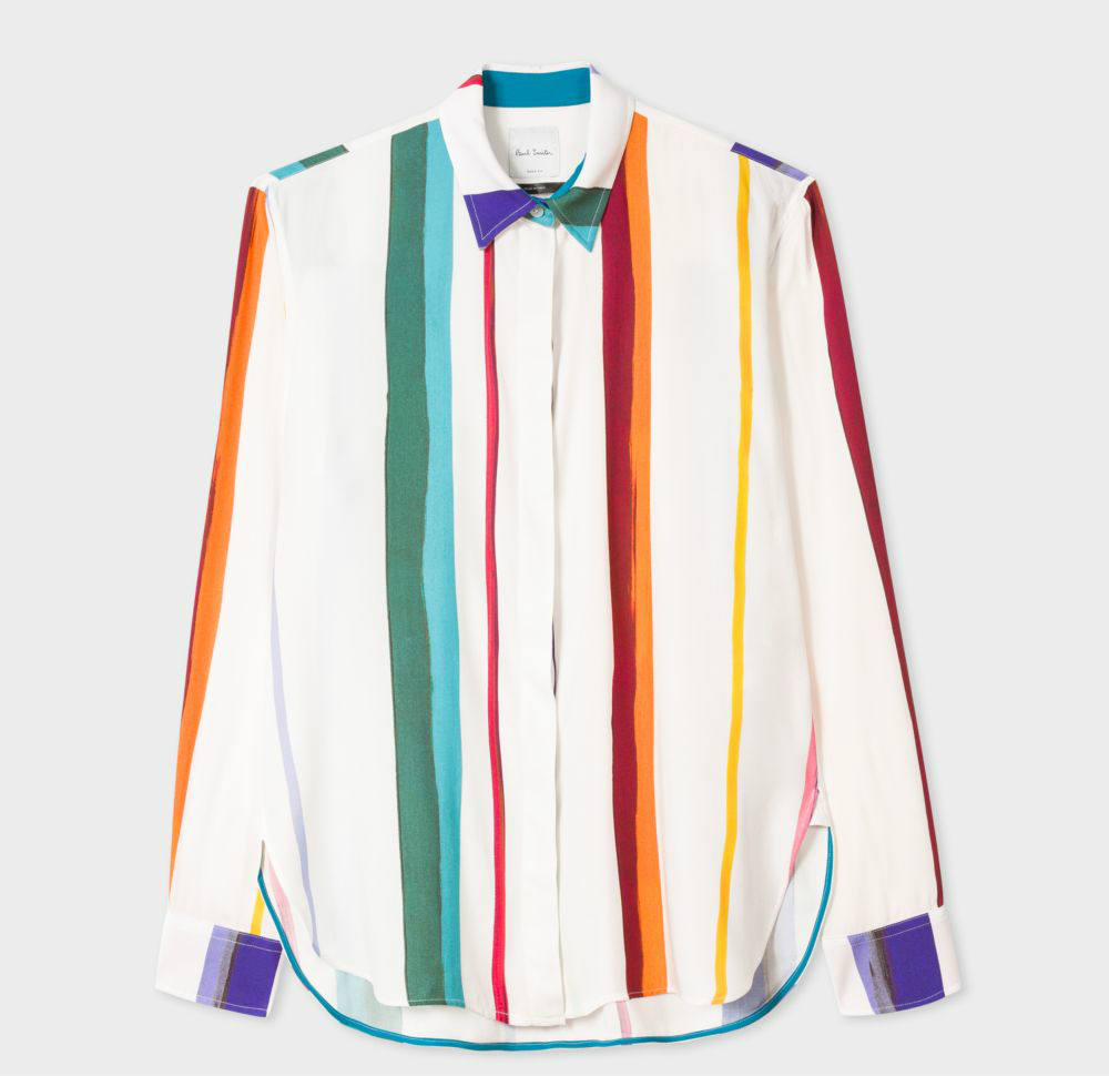 Paul Smith Brush-Print Rainbow Blouse