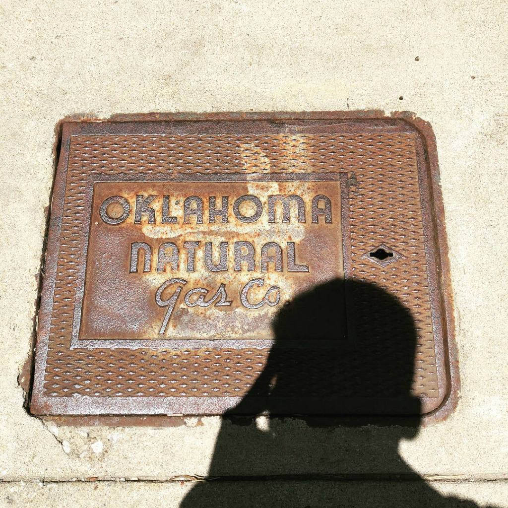 Oklahoma Natural Gas manhole cover