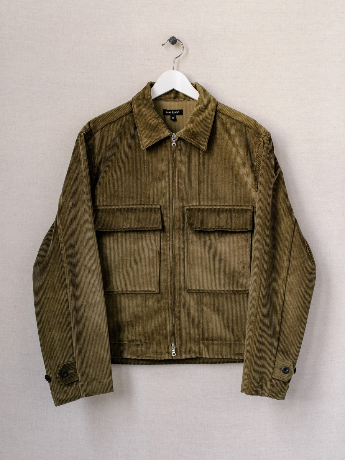 Evan Kinori Zip Jacket - Organic Cotton Corduroy