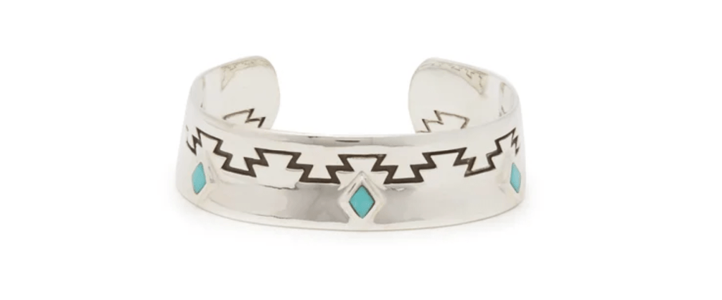 DINEH Cedar turquoise & sterling silver cuff at Matchesfashion.com