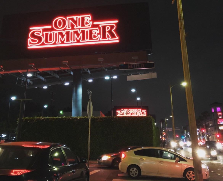 Stranger Things Season 3 billboards in Los Angeles