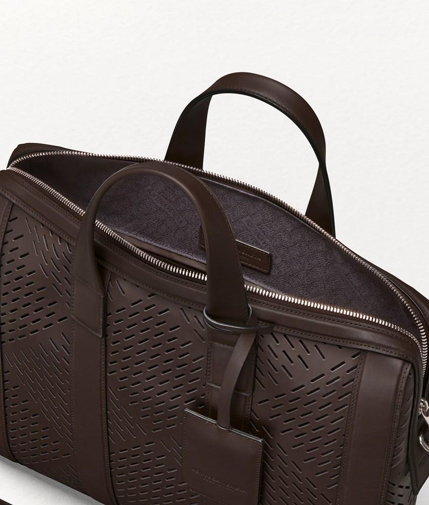 Interior lining of Bottega Veneta briefcase