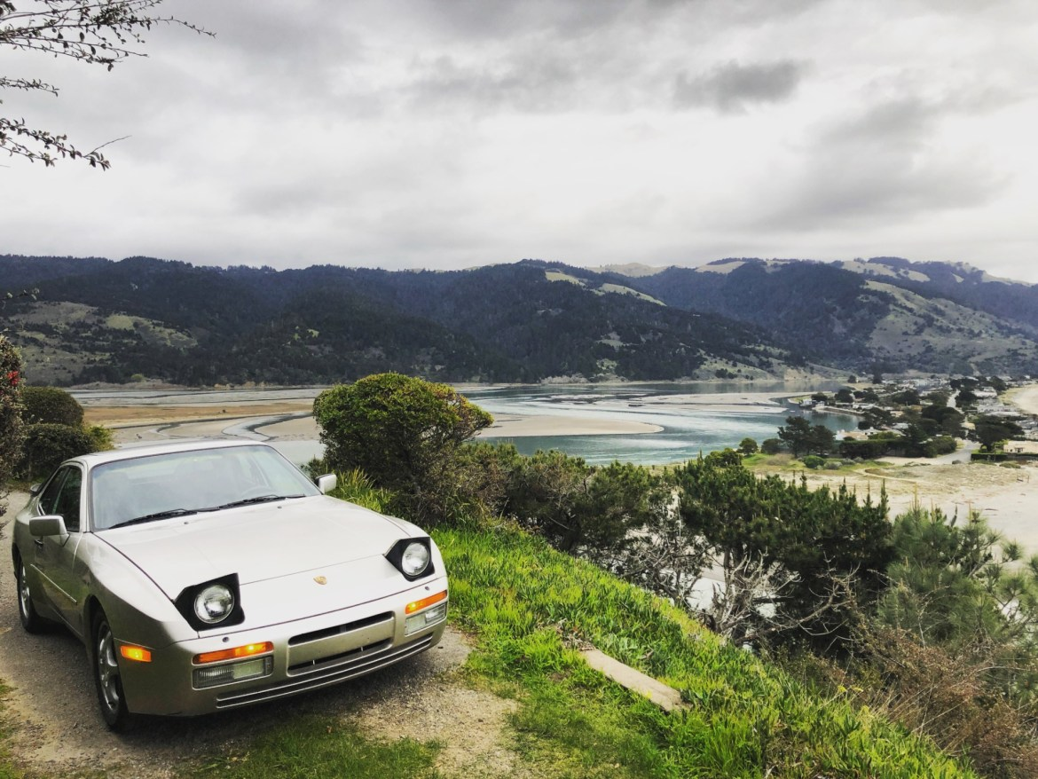A Porsche 944 Turbo above Bolinas, California