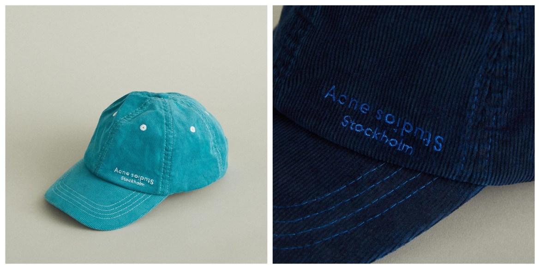 fashion baseball caps: Acne Studios Carliy corduroy baseball cap