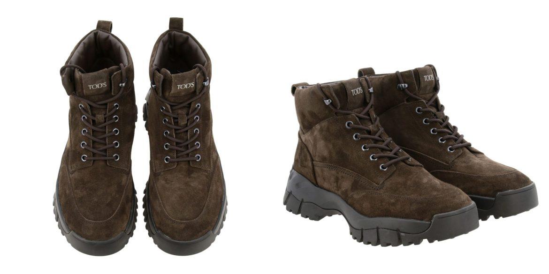 tod's fw19 brown suede trekking boots