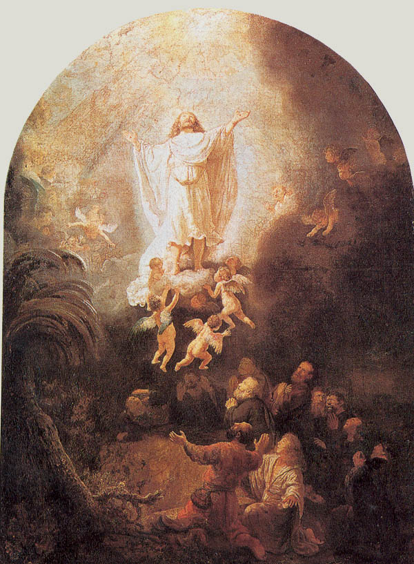The Ascension by Rembrandt taken from www.rembrandtpainting.net