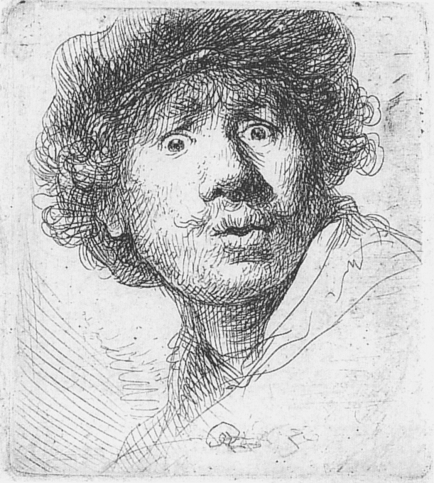 Rembrandt with Moustache and Small Beard