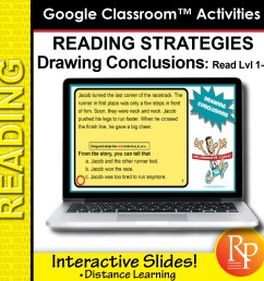 Google Classroom: Drawing Conclusions - Reading Strategies   Distance  Learning [ 1500 x 1500 Pixel ]