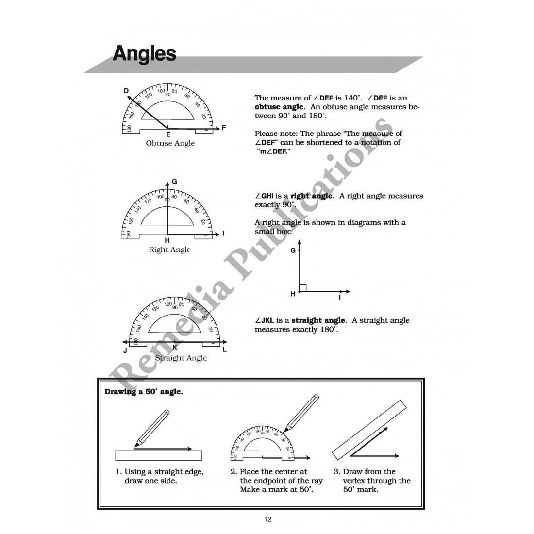 Pre-Geometry 1: Straight Forward Math Series (Advanced