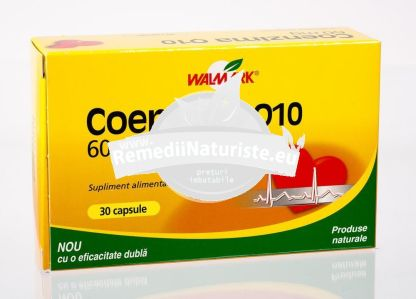 COENZIMA Q10 60mg 30cps WALMARK Tratament naturist imunatateste calitatea vietii celor cu boli cardiace afectiuni cardiace dinti gingii