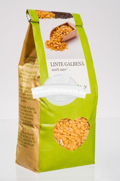 LINTE GALBENA 500g LONGEVITA Tratament naturist aliment ecologic pentru o dieta sanatoasa aliment naturist pentru o dieta sanatoasa