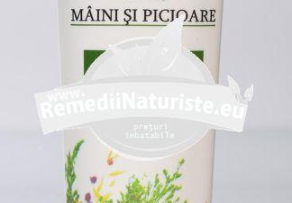 BALSAM PENTRU MAINI SI PICIOARE 50ml MANICOS Tratament naturist antiinflamator analgezi vasorotector analgezic