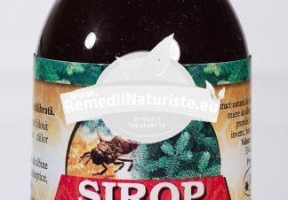 SIROP MUGURI PIN + PROPOLIS 100ml MANICOS Tratament naturist expectorant si dezinfectant al cailor respiratorii bronsita afectiuni ale cailor respiratorii superioare expectorant