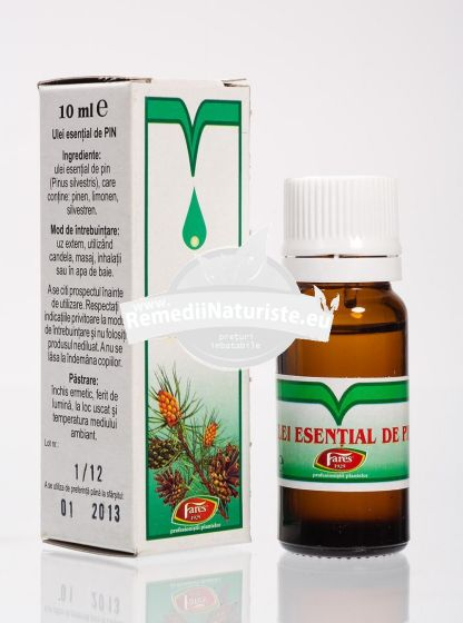 ULEI PIN 10ml FARES Tratament naturist emolient antiinflamator bronsita laringita