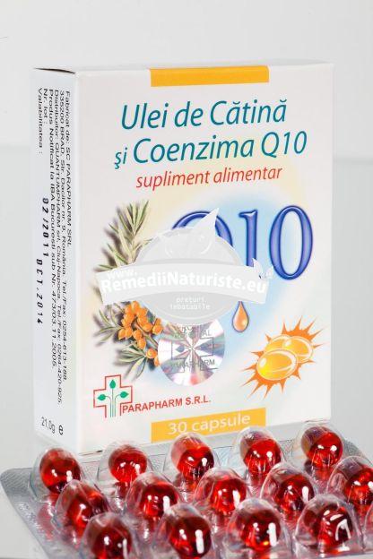 COENZIMA Q10+ULEI CATINA 30cps QUANTUM PHARM Tratament naturist incetinirea procesului de imbatranire cardiovascular