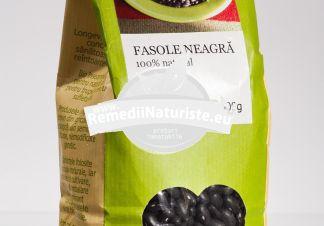 FASOLE NEAGRA 500g LONGEVITA Tratament naturist aliment ecologic pentru o dieta sanatoasa contine vitamine si minerale