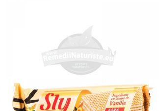 NAPOLITANE CU CREMA VANILIE FARA ZAHAR 20gr SLY NUTRITIA Tratament naturist produs pentru diabetici diabet zaharat