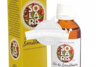 EXTRACT ULEIOS DE SUNATOARE 30ml SOLARIS Tratament naturist depresii arsuri ulcere hepatite