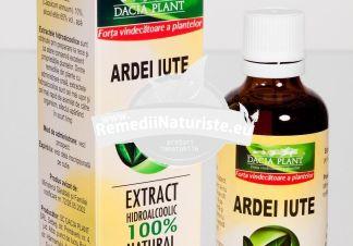 TINCTURA ARDEI IUTE 50ml DACIA PLANT Tratament naturist reumatism nevralgii degeraturi stimularea digestiei