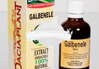 TINCTURA GALBENELE 50ml DACIA PLANT Tratament naturist antialergic hepatita ulcere sechele post hepatice