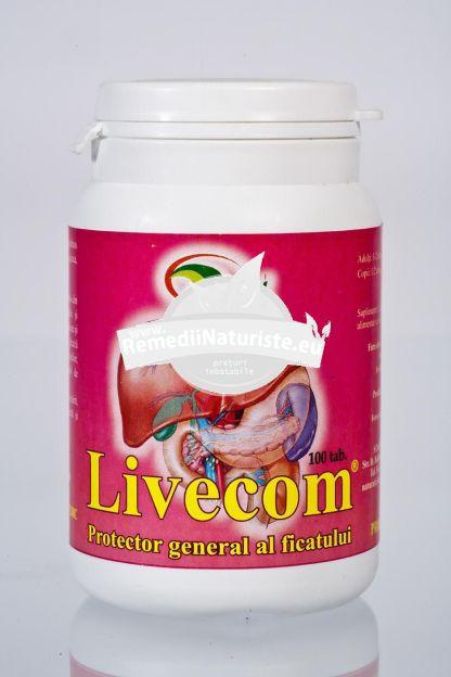 LIVECOM 100tb STAR INTERNATIONAL Tratament naturist hepatite virale ciroze hepatice anorexie greata