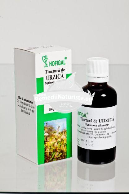 TINCTURA URZICA 50ml HOFIGAL Tratament naturist anemie alergii diaree infecti uro genitale
