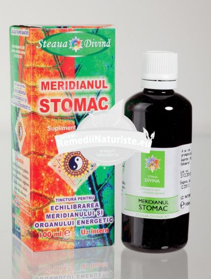 TINCTURA MERIDIAN STOMAC 100ml SANTO RAPHAEL Tratament naturist lipsa poftei de mancare greturi varsaturi gastrita