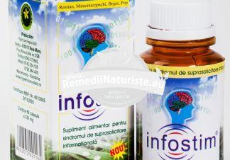 INFOSTIM 60cps HYPERICUM Tratament naturist pentru persoanele suprasolicitate informational oboseala iritabilitate suprasolicitare