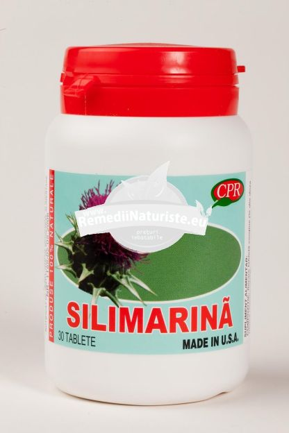 PROMO SILIMARINA 40mg 30cps+10cps(gratuit) COSMOPHARM Tratament naturist afectiuni ale ficatului insuficienta hepatica cancer protector hepatic