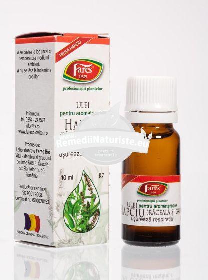 ULEI ESENTIAL AROMATERAPIE HAPCIU (RACEALA SI GRIPA) 10ml FARES Tratament naturist antigripal antiinfectios antiinflamator antifebril