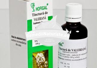 TINCTURA VALERIANA 50ml HOFIGAL Tratament naturist nevroze boli cardiace insomnii stari de nervozitate la copii si adulti