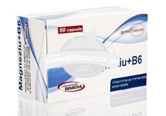 MAGNEZIU+B6 50tb REMEDIA Tratament naturist anemie tulburari ale sistemului imunitar ticuri contractii involuntare