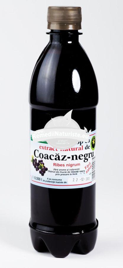 SIROP COACAZ HIPOCALORIC 500ml HYPERICUM Tratament naturist imbunatateste circulatia periferica tonic vitaminizant depurativ