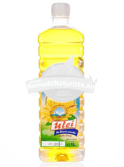 ULEI FLOAREA SOARELUI 1L DENOCT PROD Tratament naturist presat la rece nu contine colesterol ulei extravirgin obtinut prin presare la rece