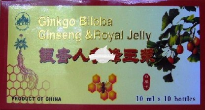 GINKGO BILOBA+GINSENG+ROYAL JELLY 10fiole L&L ADVANCEMED Tratament naturist tonic al sistemului nervos central oboseala convalescenta potenta sexuala