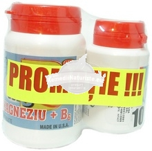 PROMO MAGNEZIU+B6 30cps+10cps(gratuit) COSMOPHARM Tratament naturist combate stresul energetic oboseala iritabilitate