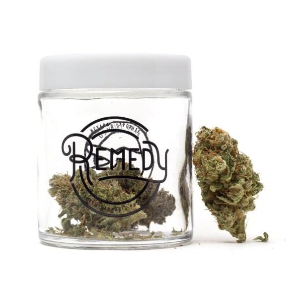 ACDC flower in Remedy glass jar
