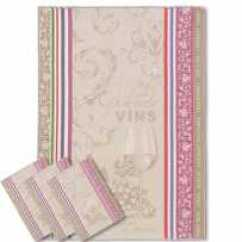 Towel For Kitchen Lighting Melbourne French Know How Linens Such As Dish Towels Hand Tea Jacquard Pattern Vignoble