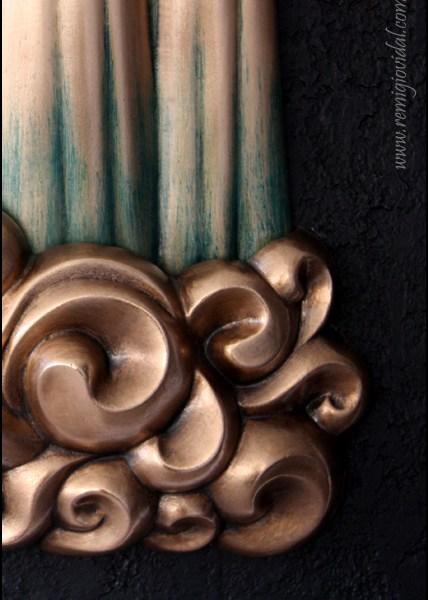 Cola de Caballo - Escultura de fundición en bronce - Escultor Remigio Vidal