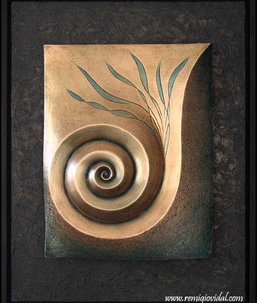 Espiral - Escultura de fundición en bronce - Escultor Remigio Vidal