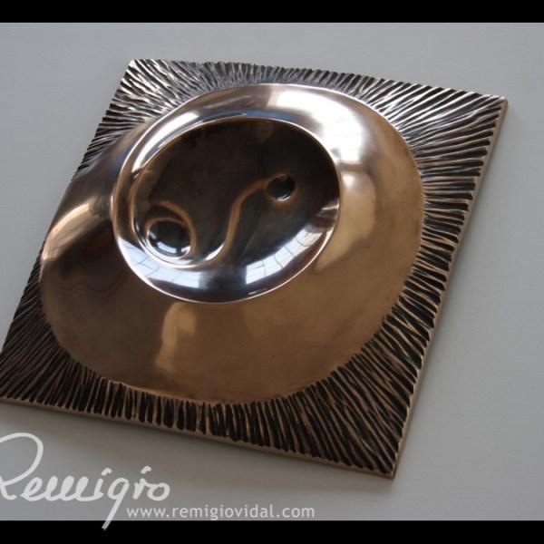 Monte Fuji - Escultura de fundición en bronce - Escultor Remigio Vidal