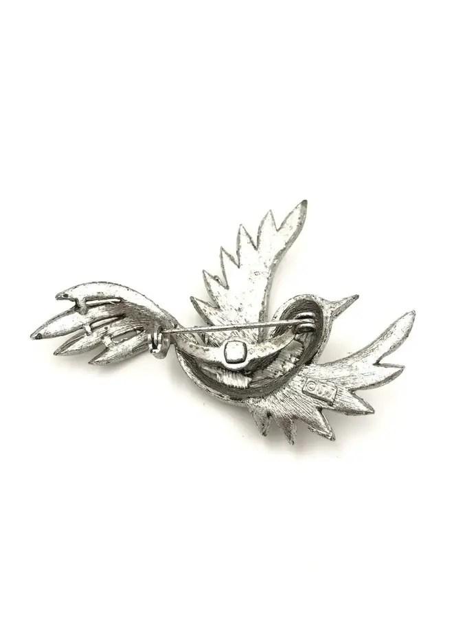 JJ Jonette Bird Brooch Jewelry Silver Pewter Pin