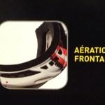 Photo de l'explication des lunettes de ski avec zoom sur l'aération frontale